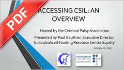 PDF Document: CSIL Module Series - Accessing CSIL (An Overview)